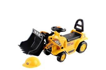 Keezi Ride On Car Kids Toys Bulldozer Cars Toy Digger Truck Children Excavator Bonus Helmet Constrction Kid Gift Present