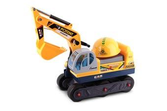Keezi Ride On Car Kids Toys Bulldozer Cars Toy Sand Digger Truck Children Excavator Bonus Helmet Constrction Kid Gift Present
