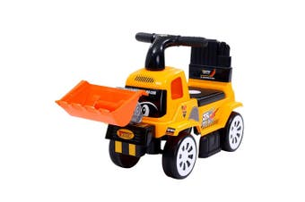 Keezi Ride On Car Kids Toys Bulldozer Cars Toy Foot To Floor Sand Digger Truck Children Excavator Bonus Helmet Constrction Kid Gift Present
