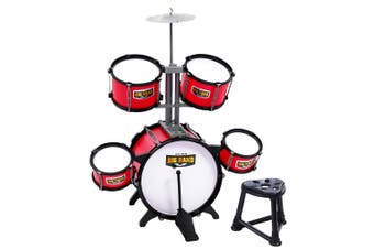 Keezi Kids Drum Set 7 Drums Kit Junior Music Toys Musical Play Mini Band Pretend Children Present Gift