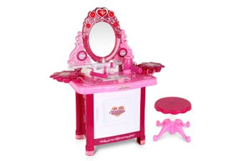Keezi Kids Makeup Set Kit Make Up Kits Sets Vanity  Dressing Table Girl Toys Children Pretend Gift For Her