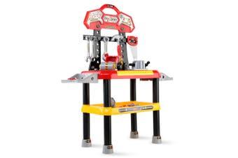 Keezi Kids tool Set 97PCS Workbench Pretend Worker Work Bench Tools Kit Sets Kits Pretend Role Play Gift For Him Children