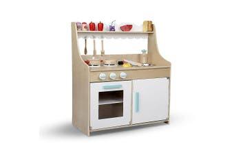 Keezi Kids  15 Piece Kitchen Set Pretend Play Wooden Toys Cooking Children Cookware Food