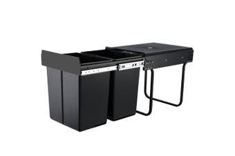 Cefito 2x20L Pull Out Bin - Black