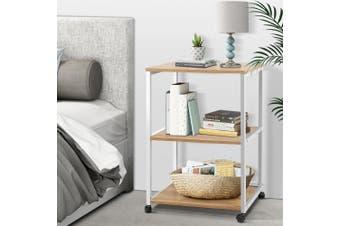 Artiss Portable Mobile Printer Stand 3-Tier Storage Shelf Rack Office Trolley