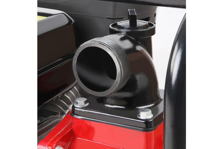 Giantz 2 Inch 235cc High Flow Water Pump Black and Red Garden Irrigation Petrol Fire Fighting Protection