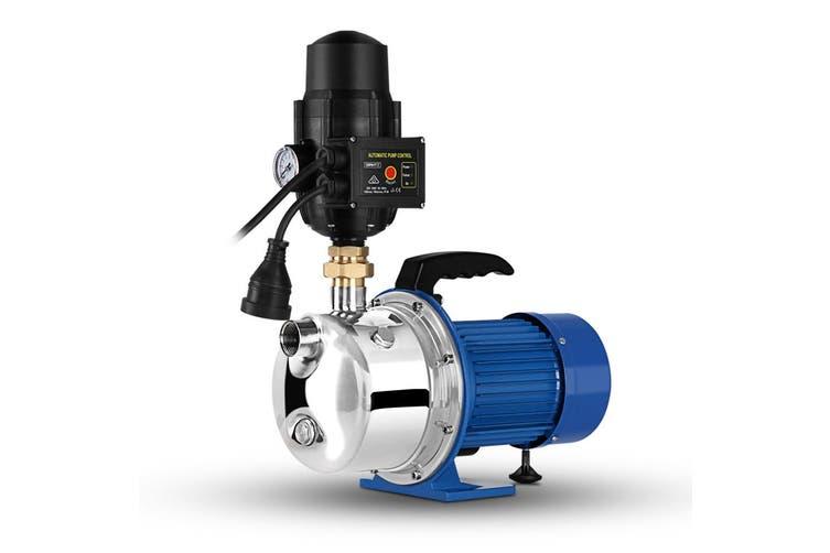 Giantz 2300W High Pressure Garden Irrigation Jet Water Pump Auto Controller Durable Stainless Steel Home Portable SILVER