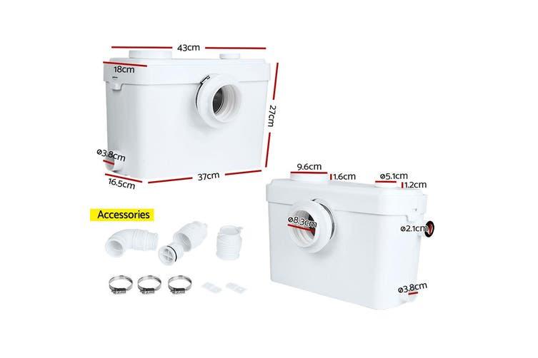 Giantz 600W Macerator Sewerage Water Pump for Easy Bathroom Toilet Disposal Sewage Kitchen Drainage 270L/min