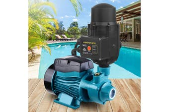Auto QB60 Peripheral Water Pump Clean Electric Garden Farm Rain Tank Automatic Irrigation BLUE