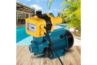 Giantz Auto QB60 Peripheral Water Pump Clean Electric Garden Farm Rain Tank Automatic Irrigation Rust Resistant YELLOW
