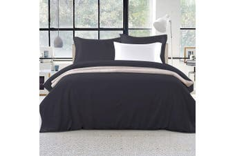 Giselle Bedding King Quilt Cover Set Black Luxury Classic Premium Microfibre Doona Duvet Bed Sets Hotel