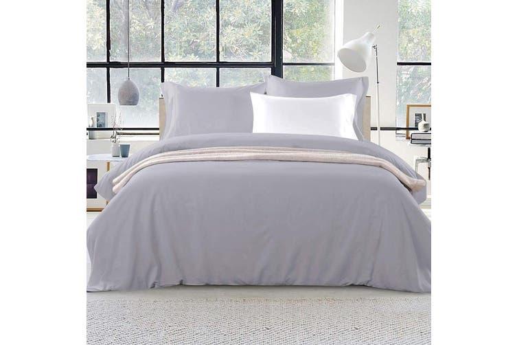 Giselle Bedding King Quilt Cover Set Grey Luxury Classic Premium Microfibre Doona Duvet Bed Sets Hotel