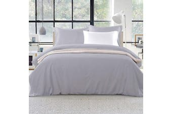 Giselle Bedding Super King Quilt Cover Set Grey Luxury Classic Premium Microfibre Doona Duvet Bed Sets Hotel