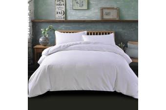 Giselle Bedding Super King Quilt Cover Set White Luxury Classic Premium Microfibre Doona Duvet Bed Sets Hotel