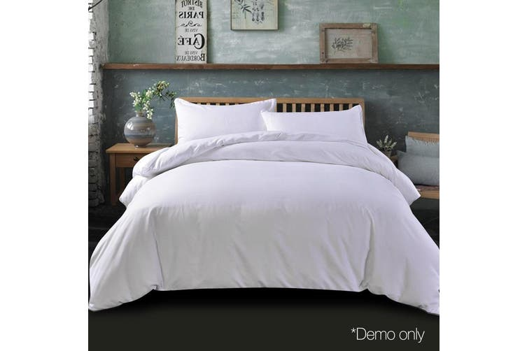 Giselle Bedding Super King Quilt Cover Set White Luxury Classic Premium Microfibre Doona Duvet Bed Sets Hotel
