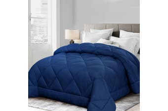 Giselle Bamboo Quilt 400GSM Microfibre Microfiber Quilts Duvet Cover Doona All Season King Blanket Blue