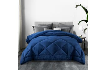 Giselle Bedding Bamboo Quilt 700GSM Queen Microfibre Microfiber Quilts Duvet Cover Doona All Season Blue