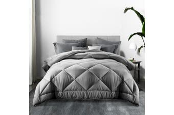 Giselle Bedding Bamboo Quilt 700GSM Microfibre Microfiber Quilts Duvet Cover Doona King All Season Grey