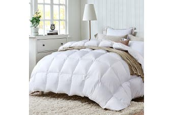 Duck Down Quilt w/ Feather 700GSM Quilts Cotton Duvet Cover Doona Blanket Winter Weight Super King Size Bed
