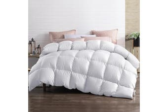 Giselle Bedding Luxury Goose Down Feather Quilt 700GSM Super King Size Bedroom Cotton Cover Pure Soft Blanket Duvet Doona Ultra Warm Winter