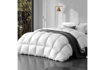 Giselle Bedding Luxury 800GSM Goose Down Feather Quilt Queen Size Bed Cotton Cover Pure Soft Blanket Duvet Doona Ultra Warm Winter