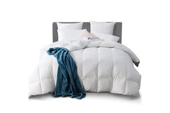 Goose Bedding Luxury 500GSM Goose Down Feather Quilt Queen Size Bed Pure Soft Cotton Cover Duvet Doona Blanket Ultra Warm for All Season