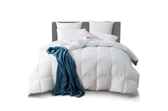 Giselle Bedding Luxury 500GSM Goose Down Feather Quilts Super King Size Bed Pure Soft Cotton Cover Duvet Doona Blanket for All Season