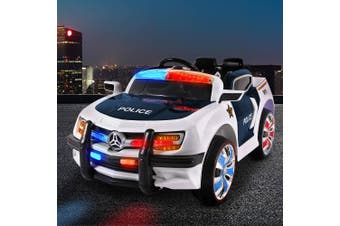 Kids Ride On Car Police Electric Toys Cars Remote Control Music 12V