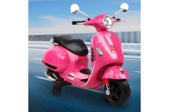 Kids Electric Ride On Motorcycle Motorbike VESPA Scooter Car Toy Battery