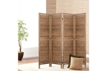 Artiss 4 Panel Room Divider Screen Privacy Dividers Timber Wood Timber Stand