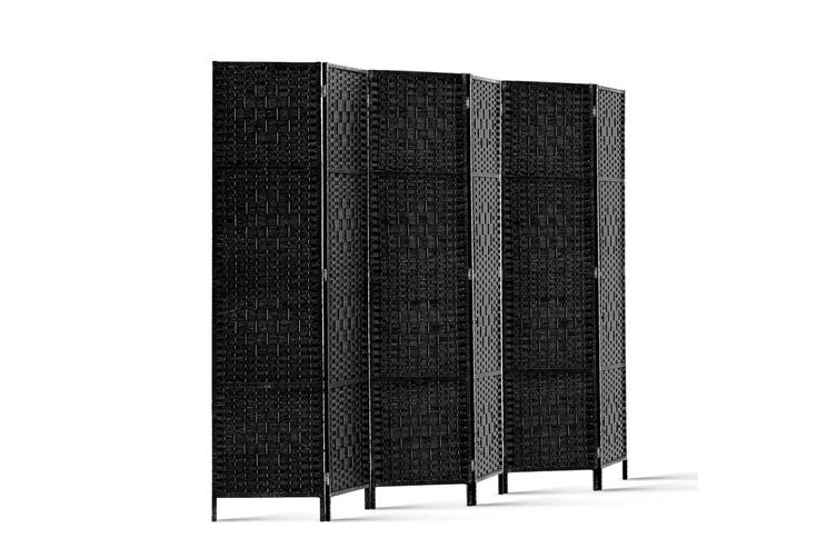 Artiss 6 Panel Room Divider Screen Privacy Rattan Timber Dividers Woven Stand