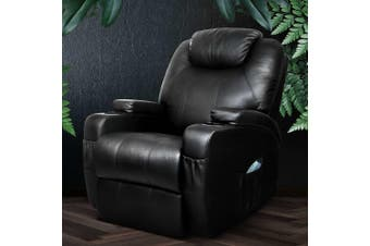 Artiss Recliner Chair Electric Massage Chairs Heated Lounge Sofa Leather