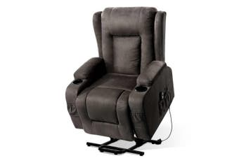 Artiss Recliner Chair Electric Massage Chairs Lift Up Position With Heat Remote Control Heated Lounge Swivel Sofa Leather Grey