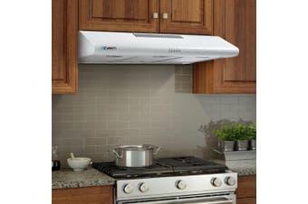 Devanti Rangehood Fixed Range Hood 900mm Filter Included Stainless Steel Canopy LED Light Kitchen Wall Mounted 90cm White