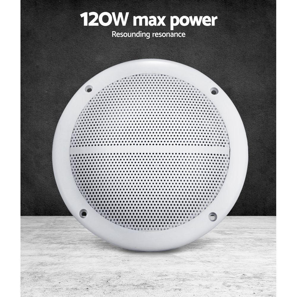 5 Two Way Marine Speaker Pair White