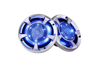 "2x MaxTurbo 6.5"" Inch Car Speakers LED Light 500W 3-WAY Audio Component"