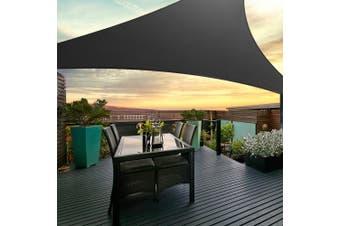 Instahut Sun Shade Sail Sails 5x5m Square 280GSM Shade Cloth Shadecloth Canopy Black Summer UV Protection