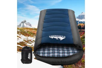 Weisshorn Sleeping Bag Bags Single Camping Hiking -20C to 10C Tent Winter Thermal Navy