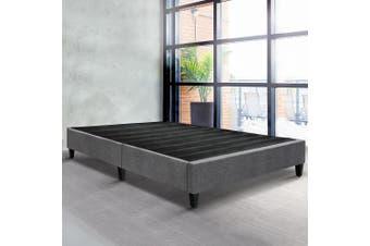 Artiss Queen Size Bed Base Frame Mattress Platform Fabric Wooden Grey