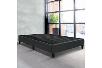 Artiss Queen Size Bed Base Frame Mattress Platform Fabric Wooden Charcoal