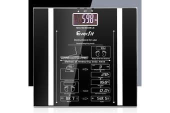 Everfit Electronic Digital Body Fat Scale Weight Scale Bathroom Scales 180kg High Precision
