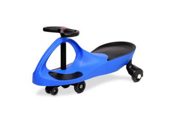 Rigo BLUE Ride on Swing Car Pedal Swing Swivel Slider Scooter Wiggle Toy Stable Twist Scooter