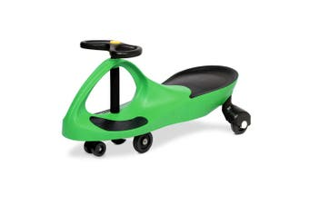 Rigo GREEN Ride on Swing Car Pedal Swing Swivel Slider Scooter Wiggle Toy Stable Twist Scooter