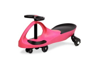 Rigo PINK Ride on Swing Car Pedal Swing Swivel Slider Scooter Wiggle Toy Stable Twist Scooter
