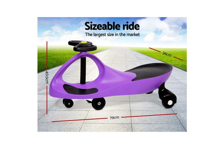 Rigo PURPLE Ride on Swing Car Pedal Swing Swivel Slider Scooter Wiggle Toy Stable Twist Scooter