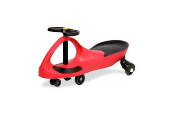 Rigo RED Ride on Swing Car Pedal Swing Swivel Slider Scooter Wiggle Toy Stable Twist Scooter