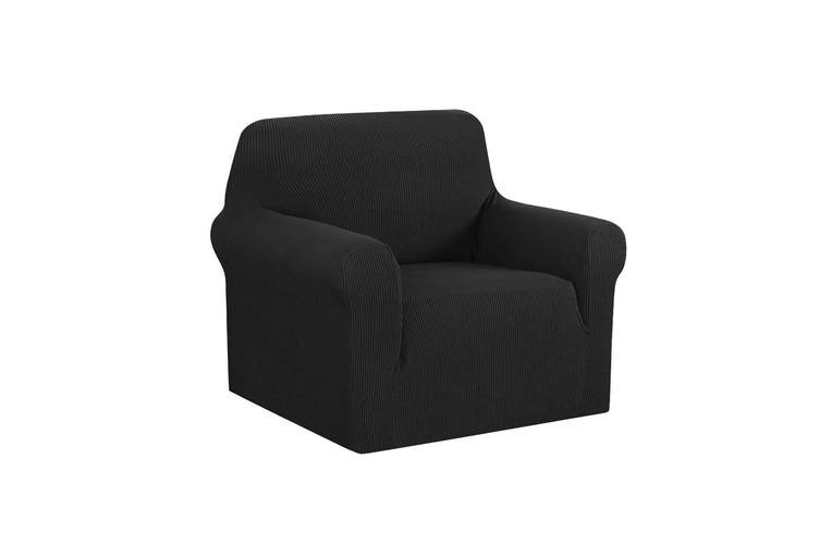 Artiss High Stretch Sofa Cover Couch Lounge Protector Slipcovers 1 Seater Black