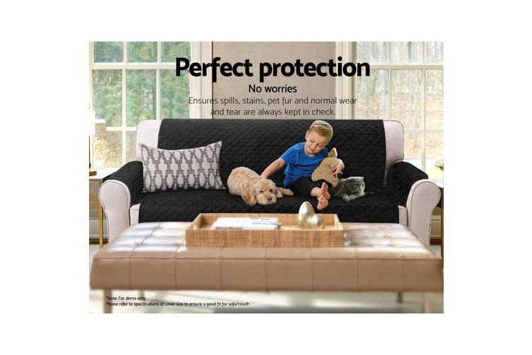 Artiss Sofa Cover Quilted Couch Covers Lounge Protector Slipcovers 1 Seater BK
