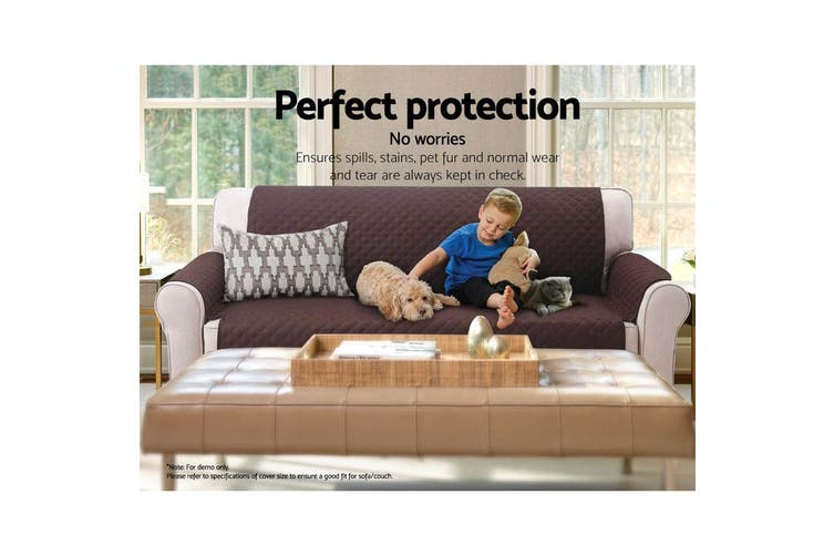 Artiss Sofa Cover Quilted Couch Covers Lounge Protector Slipcovers 2 Seater Coffee