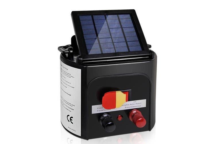 Giantz 3km Solar Electric Fence Energiser Wire Energizer Charger 0.1J Farm Pet Animal